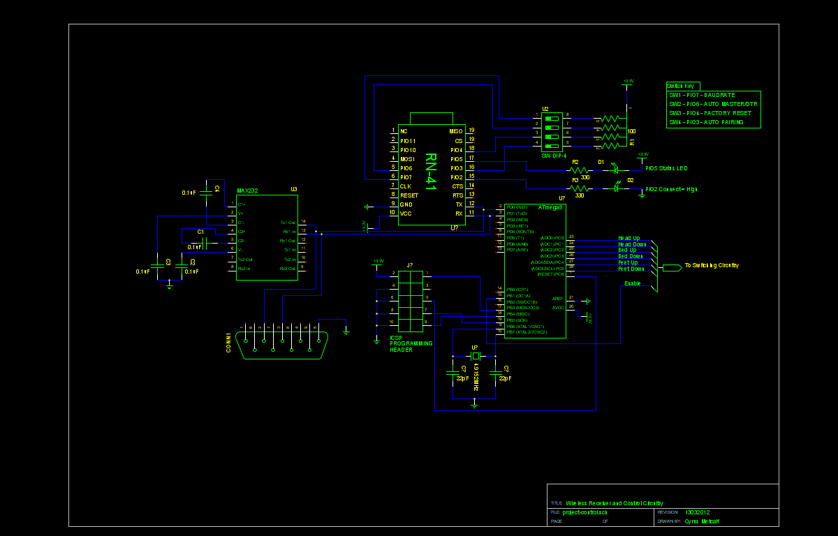 Wireless Controller For A Hospital Bed Project Schematics Control